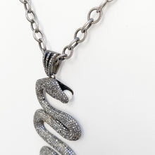 Load image into Gallery viewer, Full Diamond Snake Necklace