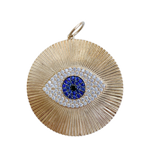 Load image into Gallery viewer, Gold Evil Eye Pendant