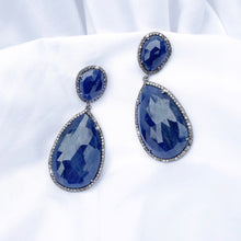Load image into Gallery viewer, Blue Sapphire Earrings