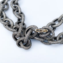 Load image into Gallery viewer, Full Diamond Link Necklace