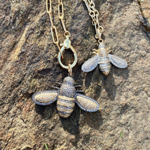 Load image into Gallery viewer, Gold and Silver Bee Pendant Medium