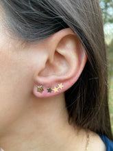 Load image into Gallery viewer, Gold Star Climber Earrings