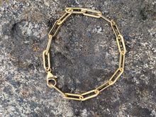 Load image into Gallery viewer, 14k Gold filled Paperclip Link Bracelet