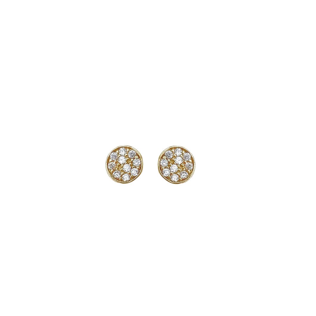 Gold Pave Studs