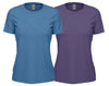 ladies purple and blue ts