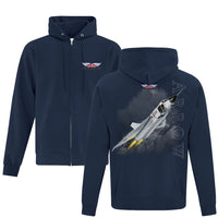 Avro Arrow Full Zip Adult Hoodie