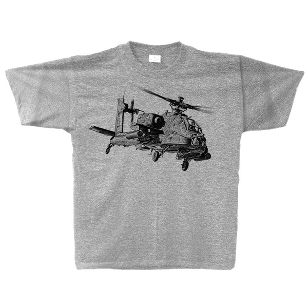 AH-64 Apache Sketch Adult T-shirt