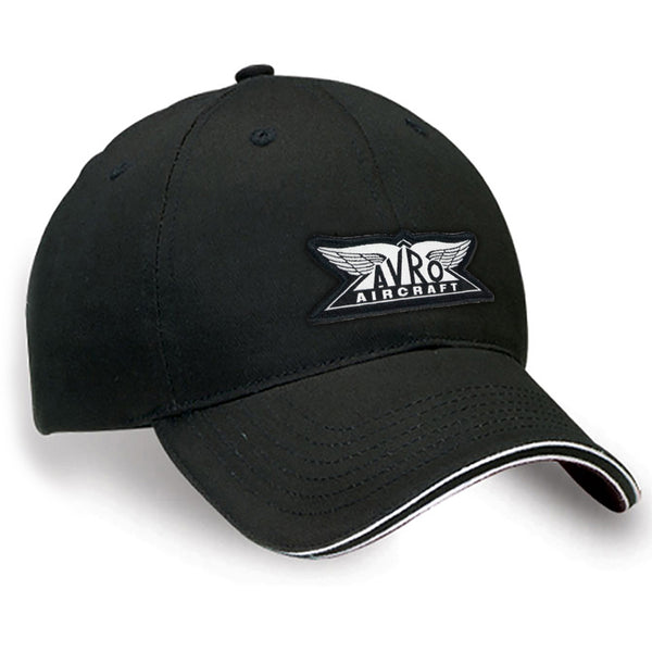 Avro Aircraft Black & White Crested Cap