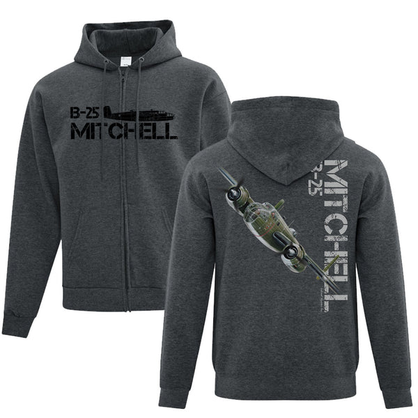 B-25 Mitchell Full Zip Adult Hoodie