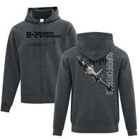 B-29 Superfortress Full Zip Adult Hoodie