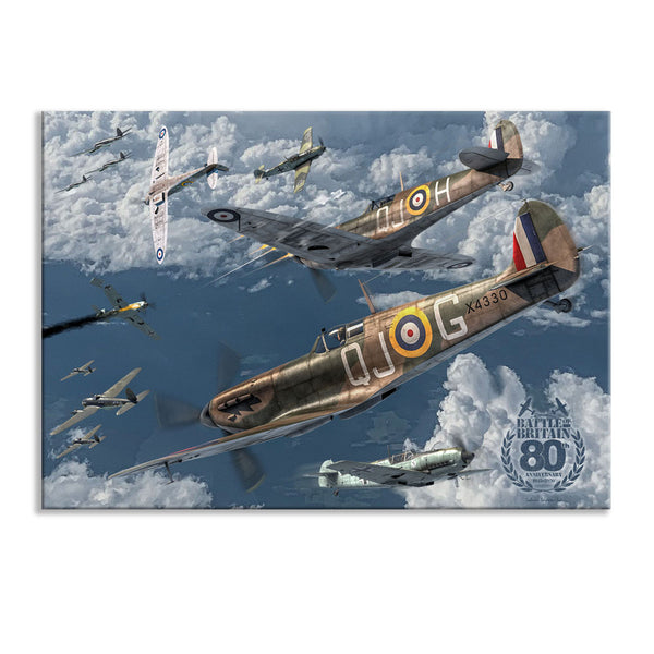 Battle of Britain 80th Anniversary Spitfire Canvas Print