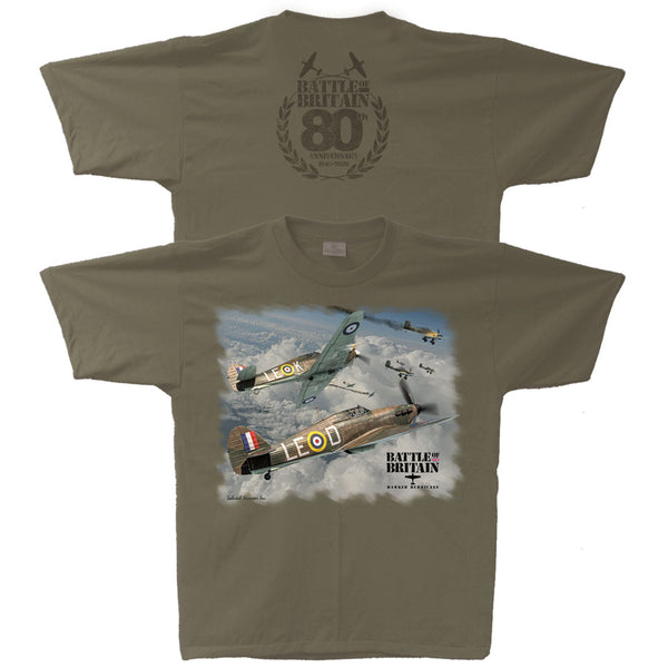 Battle of Britain 80th Anniversary Hawker Hurricane Adult T-shirt