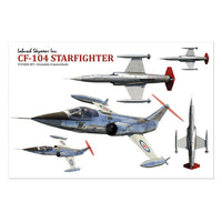 CF-104 Starfighter Sticker Sheet