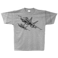 CF-18 Hornet Sketch Adult T-shirt