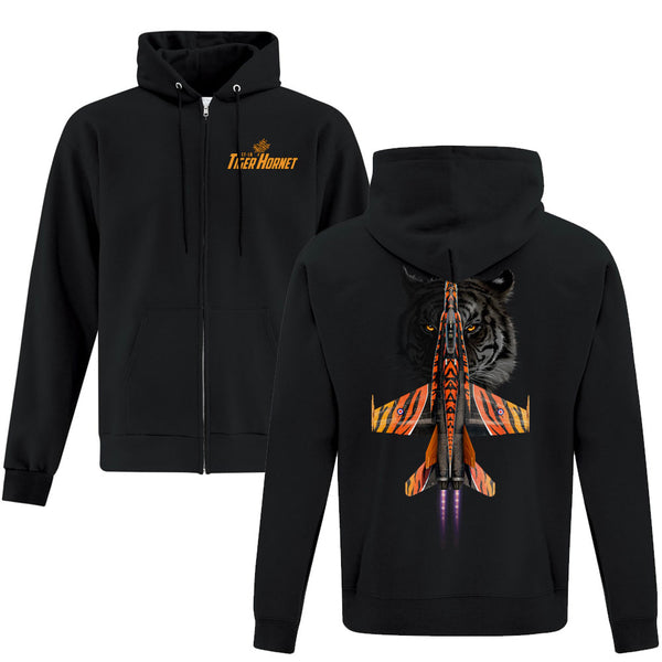 CF-18 Tiger Hornet Full Zip Adult Hoodie