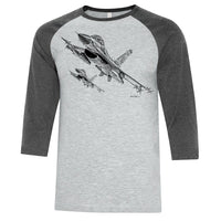 F-16 Falcon Sketch Adult T-shirt
