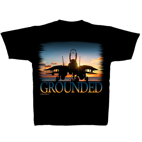 F-14 Tomcat Grounded Adult Tee (clearance)