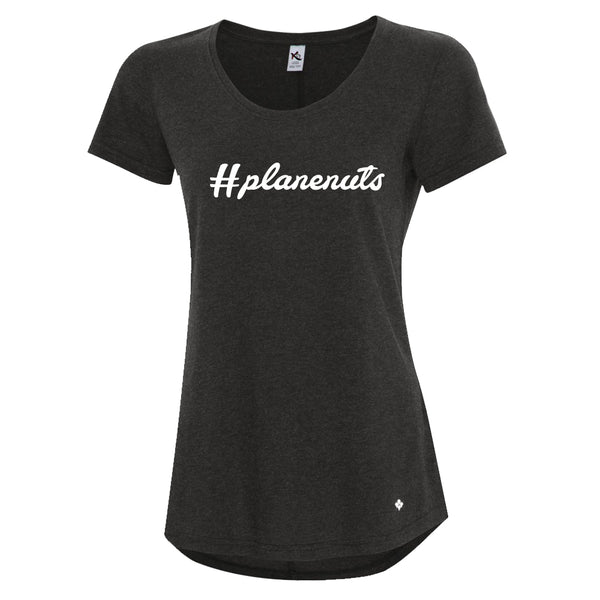 Ladies #planenuts Hashtag T-shirt