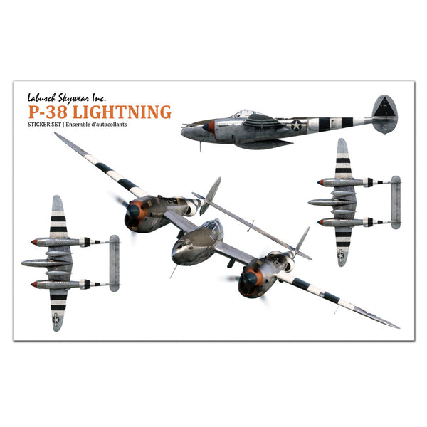 P-38 Lightning Sticker Sheet