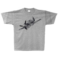 P-40 Warhawk Sketch Adult T-shirt