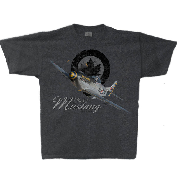 P-51 Mustang RCAF Adult T-shirt