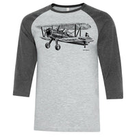 Stearman Sketch Adult T-shirt