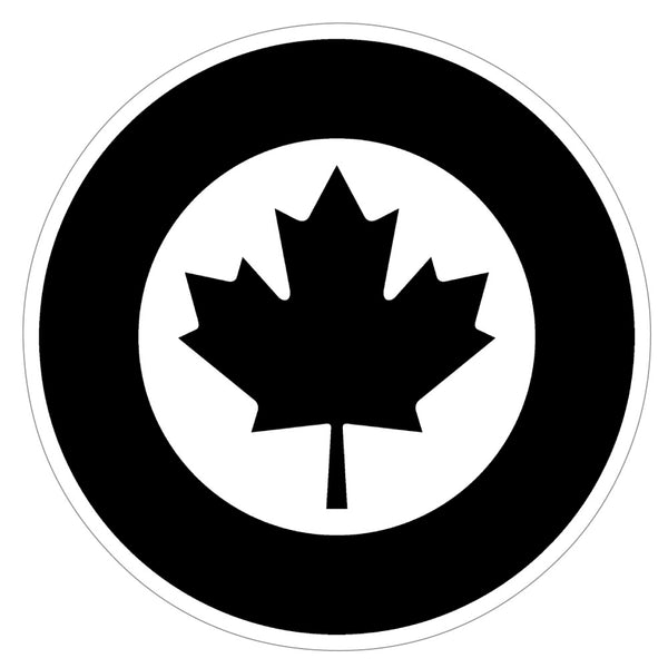 RCAF Modern Roundel Sticker (Black)
