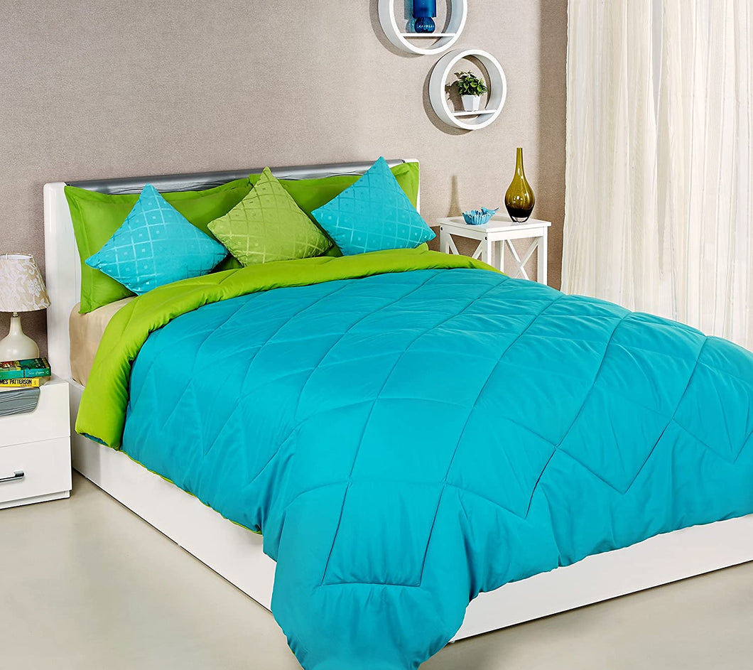 Reversible King Size Sky Blue Green Comforter Blanket My Home Mama