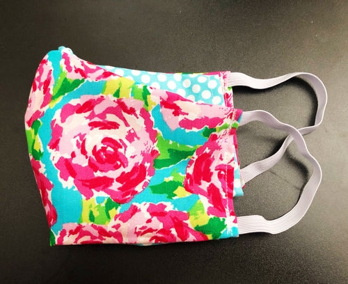 Face Mask With Filter Pocket (Floral Print)- Free Shipping