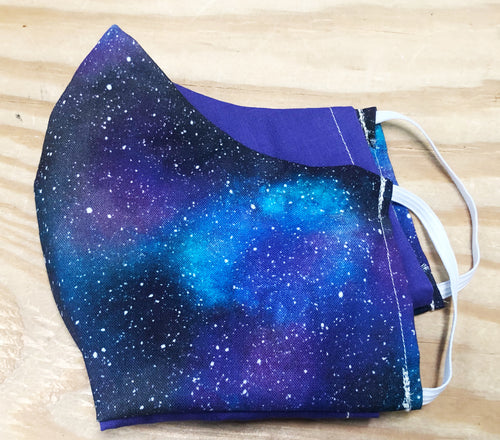 Face Mask With Filter Pocket (Stargazer) - Free Shipping