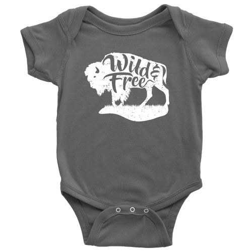 Wild and Free Baby Onesie