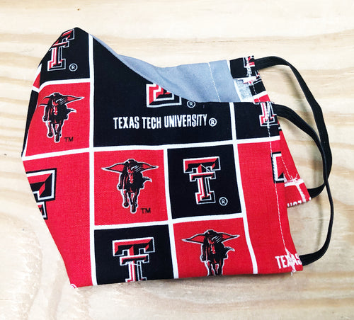 Texas Tech Face Mask With Filter Pocket - Free Shipping