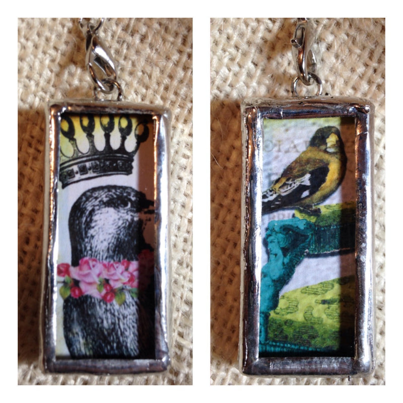 """Royal Birds"" Double Sided Pendant"