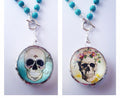 Sugar Skull Necklace | Day of the Dead Jewelry