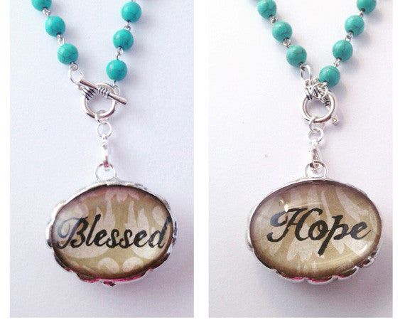 Hope Necklace | Word Jewelry | Inspirational Jewelry