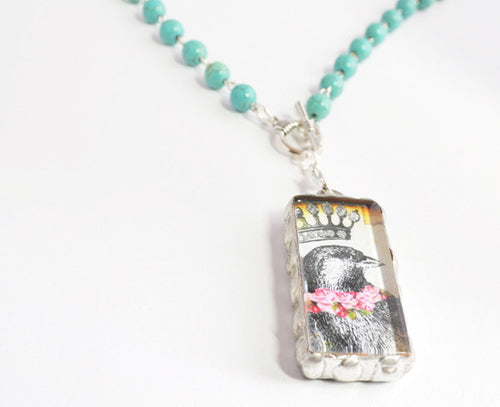 Bird Necklace | Glass Pendant Necklaces | Custom Necklace Pendants