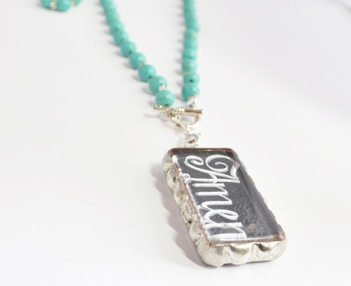 Amen Necklace | Word Jewelry | Soldered Pendant