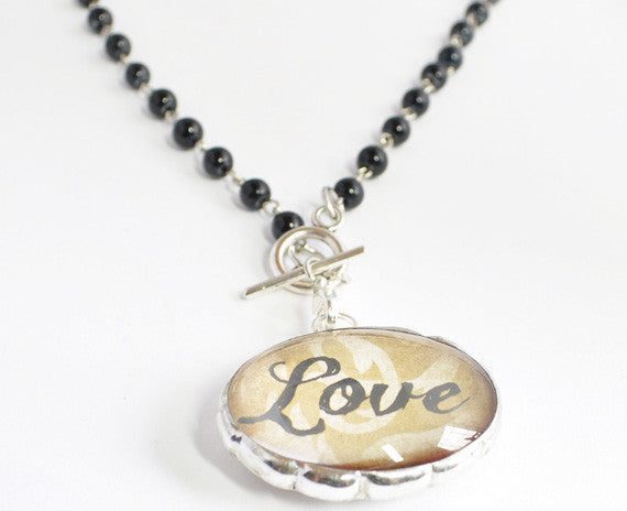 Love Necklace | Word Jewelry | Soldered Pendant