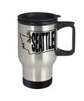 Seattle, Washington Travel Mug