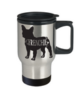 Frenchie Travel Mug, French Bulldog Mug