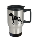 Boxer Dog Travel Mug, Box Dog Breed Mug, Boxer Owner Thermal Mug