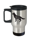 German Shepherd Travel Mug, German Shepherd Coffee Cup