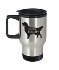 Golden Retriever Travel Mug, Golden Retriever Coffee Mug