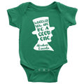 Abraham Lincoln Quote Onesie (White Design)