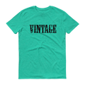 Vintage Black Graphic Short Sleeve T-Shirt