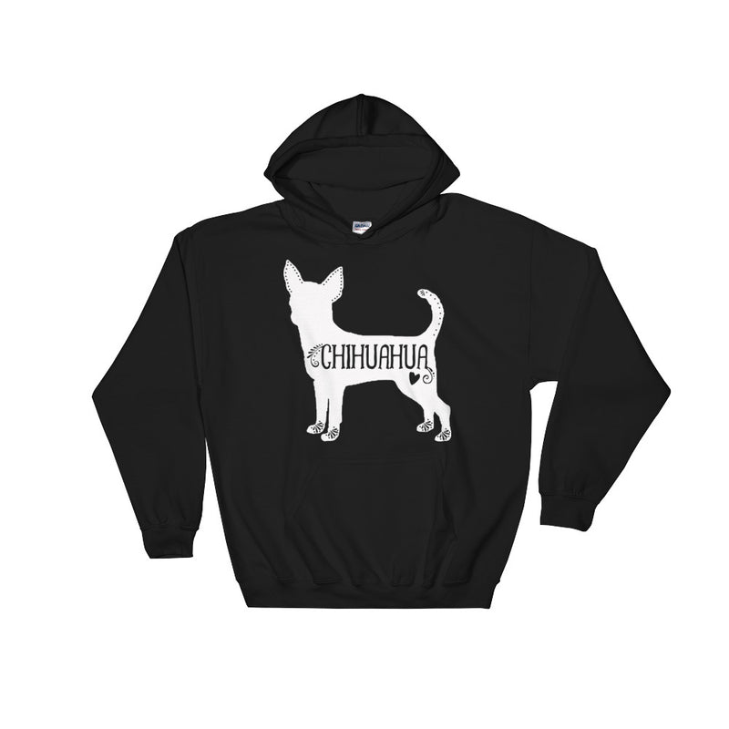 Chihuahua Hooded Sweatshirt (White Design)