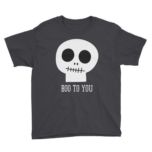 Halloween T-Shirt, Skull, Skeleton, Youth Halloween Shirt