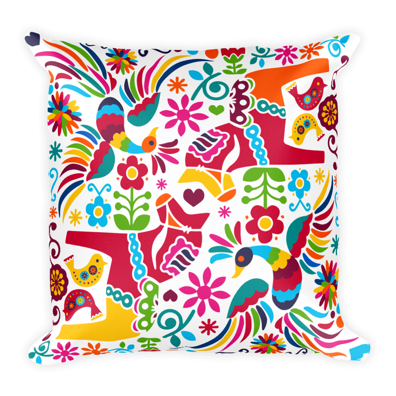Mexican Otomi Pattern Square Pillow