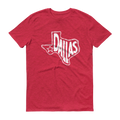 Dallas, Texas Short Sleeve T-Shirt (White Graphic)