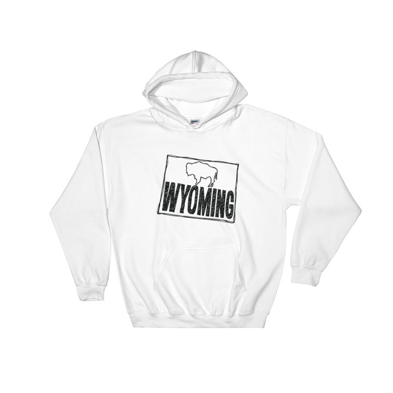 Wyoming Hooded Sweatshirt (Black Text)